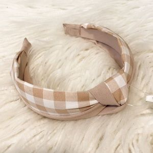 ANTHROPOLOGIE Sophia Preppy Gingham Headband